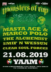 Monsters of Rap 2019 - Masta Ace, Marco Polo, Alchemist, Smif N Wessun, Clear Soul Forces